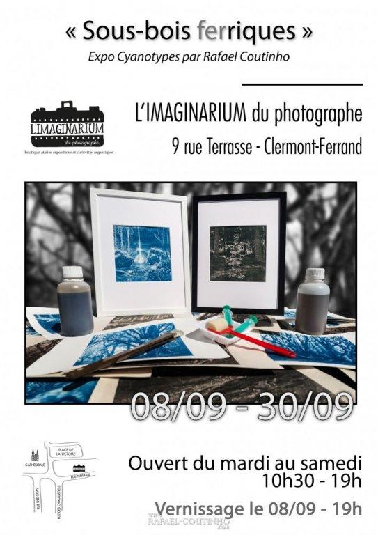 Expo sous bois ferriques tirages cyanotype Imaginarium du photographe